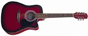 современная семиструнная эстрадная вестерн-гитара