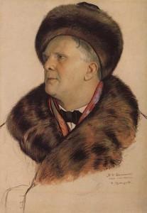 портрет Шаляпина работы Кустодиева