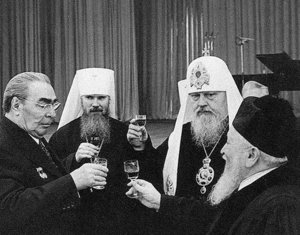 Л. И. Брежнев, патриарх Московский и всея Руси, главный раввин Московской синагоги