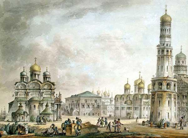 Кваренги. Московский Кремль. Соборная площадь