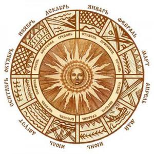 русский народный календарь. Название месяцев