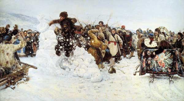 Василий Суриков. Картина «Взятие снежного городка»